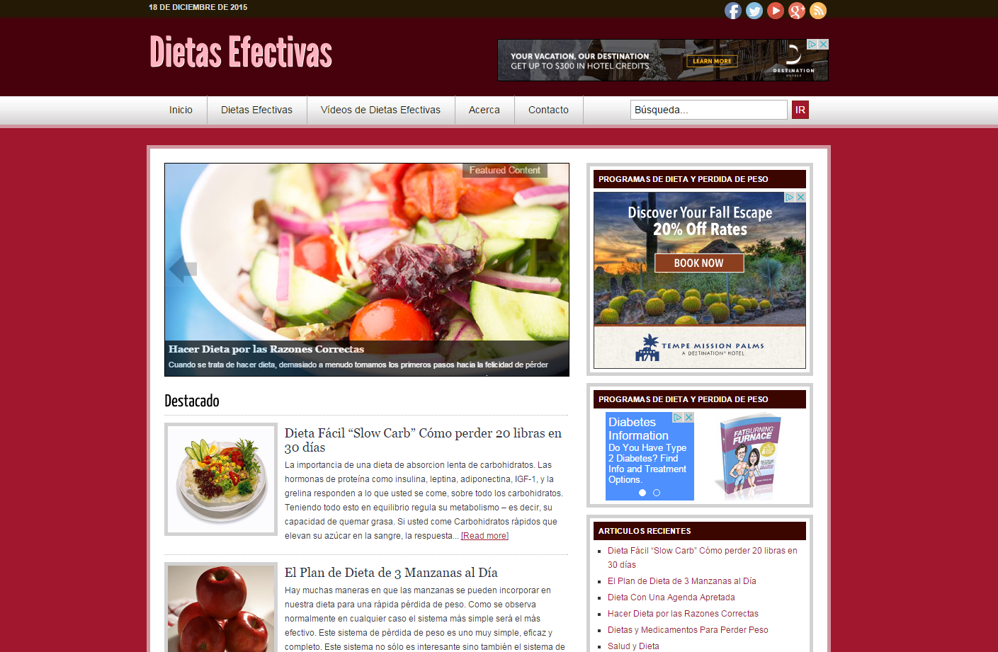 iDietasEfectivas.com – Website Design